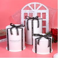 China Personalized Design Paper Sweet Box 6 8 Inch Big Tall With Ribbon wholesale
