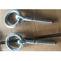 China E - Coated Steel Wood Screw Eye Hook Screws With Ring Custom Black Color wholesale
