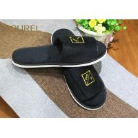 Quality 5mm Untiskid EVA Sole Disposable Pure Cotton Slippers for Hotel Guest Room for sale