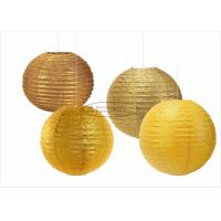 China Glitter Powder Shiny Round Paper Lanterns , 14 Inch Paper Lanterns For Indoors wholesale