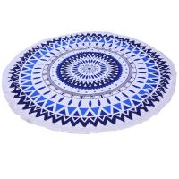 China Summer 150cm diameter Large Custom Printed Round Beach Towels With Tassel Microfiber beach towel round wholesale