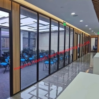 China Soundproof Large Fully Enclosed Office Cubicles Workstation Portable Office Aluminum Tempered Glass Walls wholesale