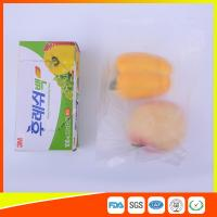 China Transparent Fruit Packaging Zip Top Freezer Bags Plastic HDPE / LDPE Material for sale
