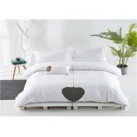 China 100% Goose Cotton And Satin White 400T Hotel Bed Linen Commercial Grade wholesale