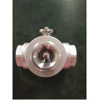 China PN20 Electric Actuator Ball Valve , Stainless Steel 3 Way DN20 Ball Valve wholesale