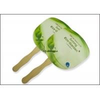 China Customized PP Plastic Hand Fans Round Square Green Traditional Style wholesale