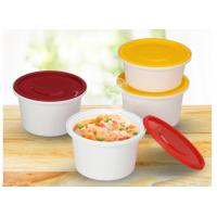 China Anti-theft round shape injection PP material soup cups thicker takeaway soup bowls with lock wholesale