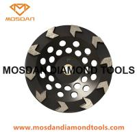 China Cup shaped diamond grinding wheel with arrow segment wholesale