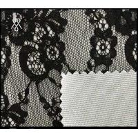 China 2018 Fashion 100% Nylon lace composition with wholesales price transparent textile cheap white fabric roll wholesale