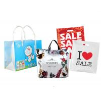 China custom biodegradable PVC plastic carrier bags shopping printing with handle rope on sale