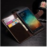 China Redmi Note 3 Cell Phone Leather Wallet Case Anti - Dirt With Credit Card Slots on sale