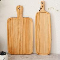 China Wholesale custom high quality handmade European style new design  wooden Rectangle  food serving tray wholesale