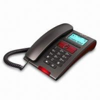 China Basic Caller ID Phone with 24 Ringtones and Voice Reading Numbers wholesale