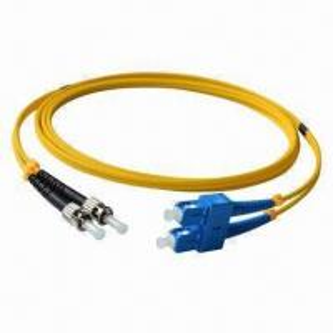 China Fiber Patch Cord, LC/UPC-ST/UPC, SM Duplex, LSZH, Yellow wholesale