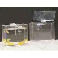 Quality Custom Acrylic Fish Tank , Rectangle Plexiglass Fish Tank With Lid for sale
