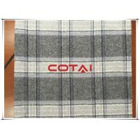 China Gray Big Tartan Simple Double Faced Wool Coating Fabric Business / Causal Style wholesale