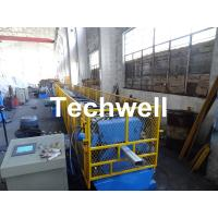 China 0.4-0.8mm Downspout Machine for Making Steel Rectangular Downpipe with Saw Cutting wholesale