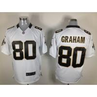 China Nike NFL New Orleans Saints 80 Jimmy Graham white Elite jersey wholesale