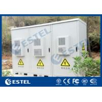 China Three Compartment Outdoor Telecom Cabinet With Three 1000W Cooling Capacity Air Conditioners wholesale