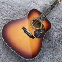 China Solid Spruce Top Abalone D Style Acoustic Guitar with Burst Maple Body Ebony Fingerboard wholesale
