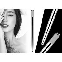 China Professional Heavy Silver Manual Tattoo Pen With Hairstroke Technology For Microblading wholesale