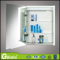 China Glass Mirror Modern Bathroom Cabinet Vanity with light wholesale