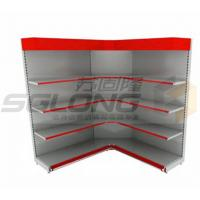 China Customizable Color Supermarket Display Racks Close / Open Corner Shelf wholesale