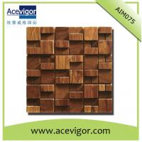 China Unique wood mosaic wall tiles for indoor decoration wholesale