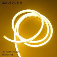 China IP44 24V Waterproof 3000K flexible LED Neon lights/ LED strip Light for building wholesale
