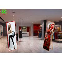 Buy cheap Indoor p2.5  Movable Floor Stand Led Advertising Screen led Mirror Screen from wholesalers