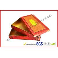China Red Matt Customized Hard Board Gift Packaging Boxes with Embossing , Hot Stamping LOGO wholesale