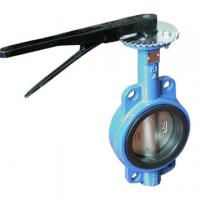 China worm gear operated prevent leakage wafer type butterfly valve on sale