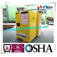 China Yellow Fireproof Flammable Safety Cabinets 12 Gal / 45L With Adjustable Leveling Feet wholesale