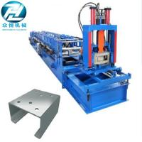 China Automatic Cutting C Channel Roll Forming Machine With Non Change Shearing Device wholesale