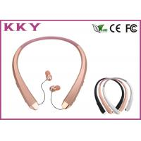 China Noise Cancelling 104dB Portable Bluetooth Earphones , Retractile Foldable Earbuds wholesale