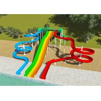 China Commercial Water Park Design Slides , Spiral FRP Water Play Design on sale