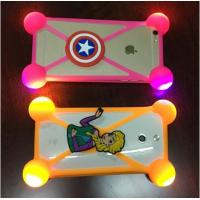 China Hot Sale Universal Silicone Phone Case 3D Cartoon LED Flash Light Phone Cover For Iphone Accessories wholesale
