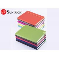 Quality Office supplies lay out pu leather a5 size elastic closure custom notebook for promotional office and school use for sale