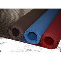 China Red Industrial Rubber Sheet Top Round Button , Bottom Impression Fabric Non Slip wholesale