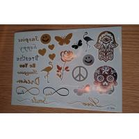 China A5 size skin art  custom fake tattoos / temporary tattoos for adults long lasting wholesale