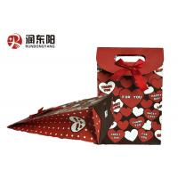 China Patch Handle Wrapping Paper Bag Durable Material For Birthday Wedding Gift Items wholesale