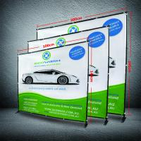 China 8 X 8 Collapsible Display Stand , Dye - Sub Printing Retractable Banner Display wholesale