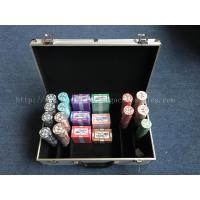 China Fancy Professional Deluxe 14 Gram Poker Chip Set With Round And Square on sale