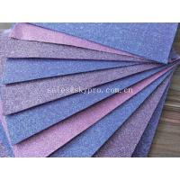 China Good Looking Purple EVA Foam Glitter Sheets For Toys / Decoration , No Woven Materials on sale