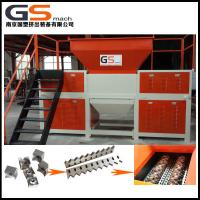 China Packing Belt / Fishing Nets Plastic Shredder Machine With Unique Knife Shaft Structure wholesale