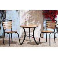 China Waterproof Commercial Anodized Anti-rust Steel Dining Chairs For Leisure wholesale