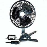 China Black Car Cooling Fan Plastic Material 12v / 24v With Half Safety Metal Guard wholesale