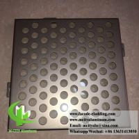 Buy cheap Perforated Aluminum panels for building skin facade cladding PVDF metallic color from wholesalers