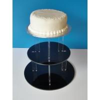 China 3-Tier Acrylic Bakery Display Case , 5mm thick weddingcake Display Stand Rack wholesale