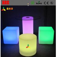 China Changeable Colors LED Table And Chairs , Rechargeable LED Bar Chair With Round Shape wholesale